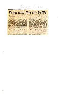 Pepsi wins this city battle
