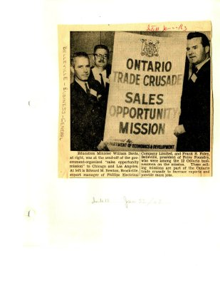 Ontario Trade Crusade Sales Opportunity Mission