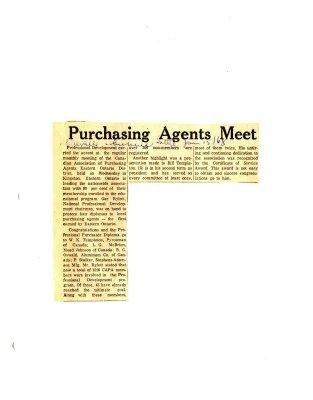 Purchasing Agents Meet