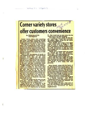 Corner variety stores offer customers convenience