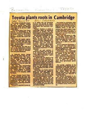 Toyota plants roots in Cambridge