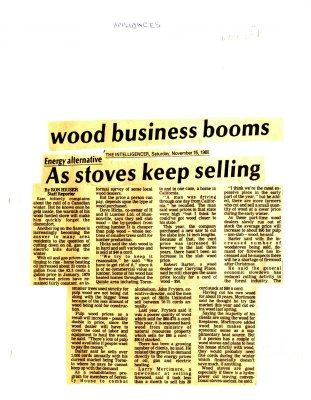 As stoves keep selling wood business booms.