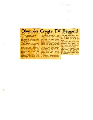 Olympics Create TV Demand