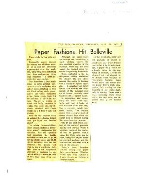 Paper Fashions Hit Belleville