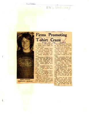Firms Promoting T-shirt Craze