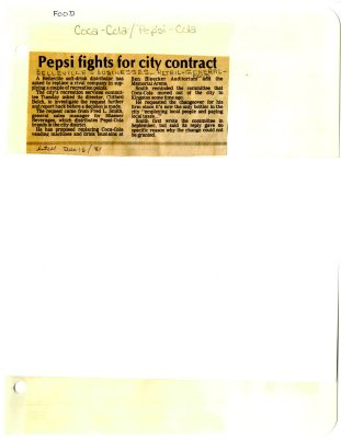 Pepsi fights for city contract