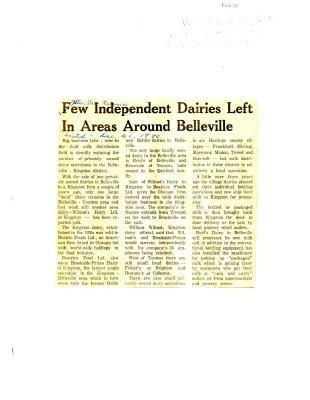 Few Independent Dairies Left In Areas Around Belleville