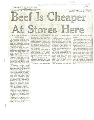 Beef Is Cheaper At Stores Here