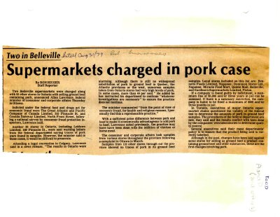 Supermarkets charged in pork case