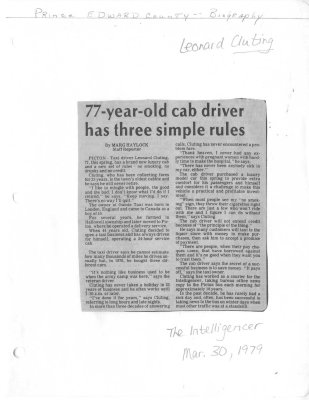 77-year-old cab driver has three simple rules