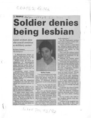 Soldier denies being lesbian