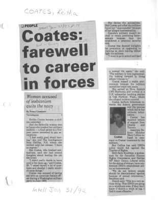 Coates: farewell to career in forces