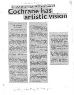 Cochrane has artistic vision