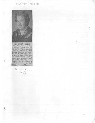 Miss Helen Coffey