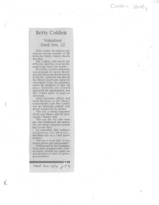 Betty Colden