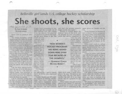 She shoots, she scores