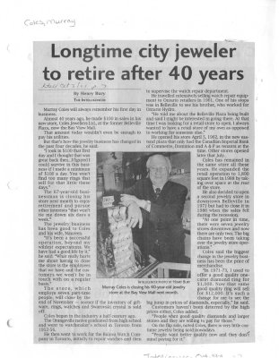 Longtime city jeweler to retire after 40 years