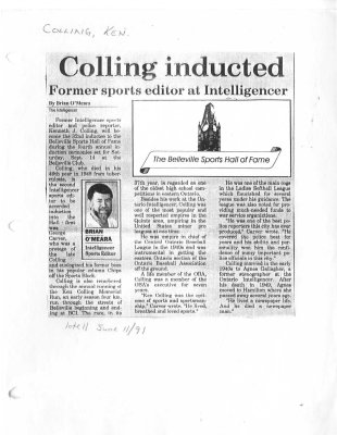 Colling inducted