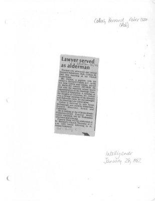 Lawyer served as alderman
