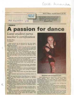 A passion for dance