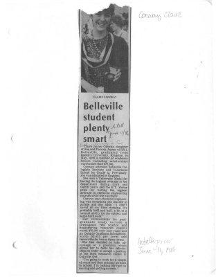 Belleville student plenty smart
