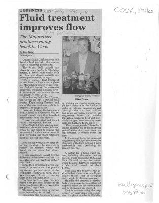 Fluid treatment improves flow