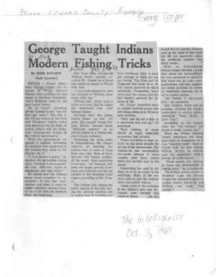 George Taught Indians Modern Fishing Tricks