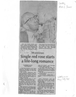 Single red rose starts a life-long romance