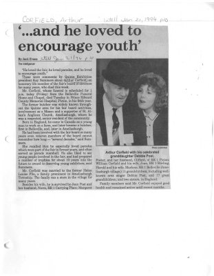 '...and he loved to encourage youth'