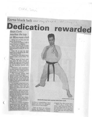 Dedication rewarded