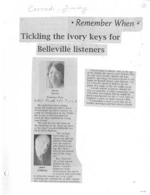 Tickling the ivory keys for Belleville listeners
