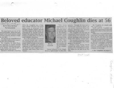 Beloved educator Michael Coughlin dies at 56