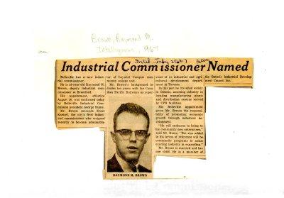 Industrial Commissioner Named