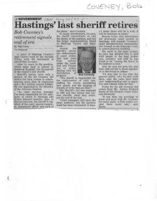 Hastings' last sheriff retires