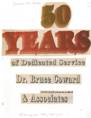 50 Years of Dedicated Service Dr. Bruce Coward & Associates