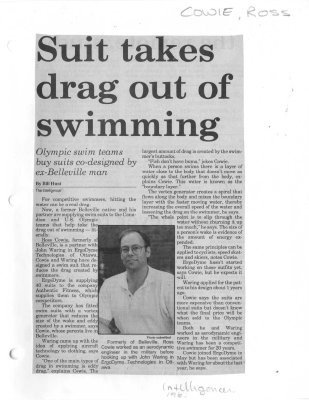 Suit takes drag out of swimming