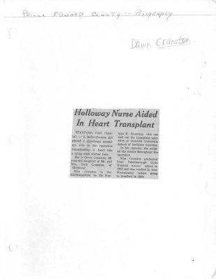 Holloway Nurse Aided in Heart Transplant