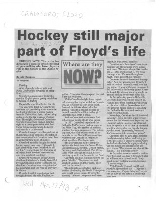 Hockey still major part of Floyd's life