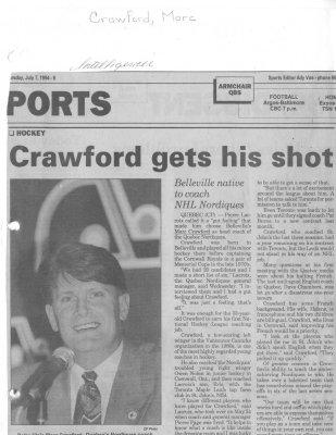 Crawford gets his shot
