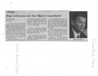 Big welcome set for Marc Crawford