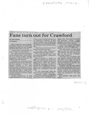 Fans turn out for Crawford