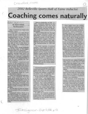 Coaching comes naturally
