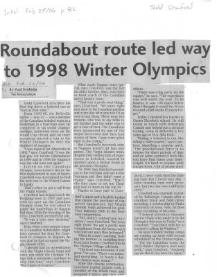 Roundabout route led way to 1998 Winter Olympics