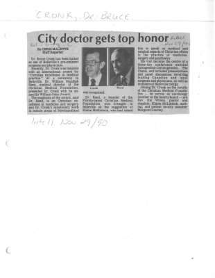 City doctor gets top honor