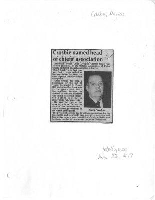 Crosbie named head of chiefs' association