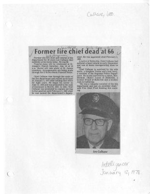 Former fire chief dead at 66