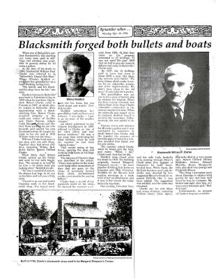 Blacksmith forged both bullets and boats