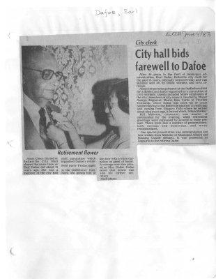 City hall bids farewell to Dafoe