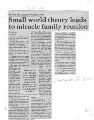 Small world theory leads to miracle family reunion