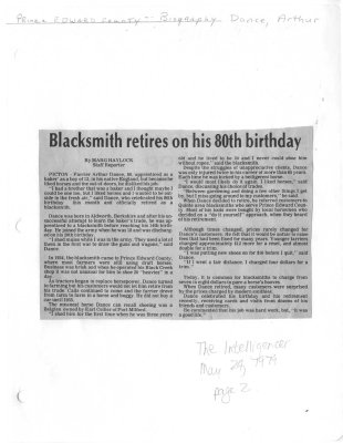 Blacksmith retires on his 80th birthday